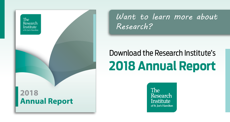 COVERPAGE OF 2018 ANNUAL REPORT BY THE RESEARCH INSTITUTE OF ST. JOES HAMILTON